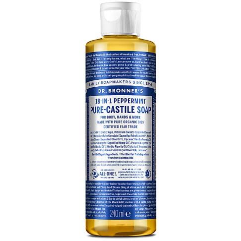 Dr. Bronner's Peppermint Castile Liquid Soap - 237ml