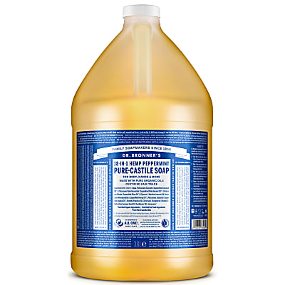 Dr. Bronner's Peppermint Castile Liquid Soap - 3.8L