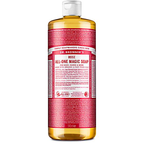 Dr. Bronner's Rose Castile Liquid Soap - 946ml