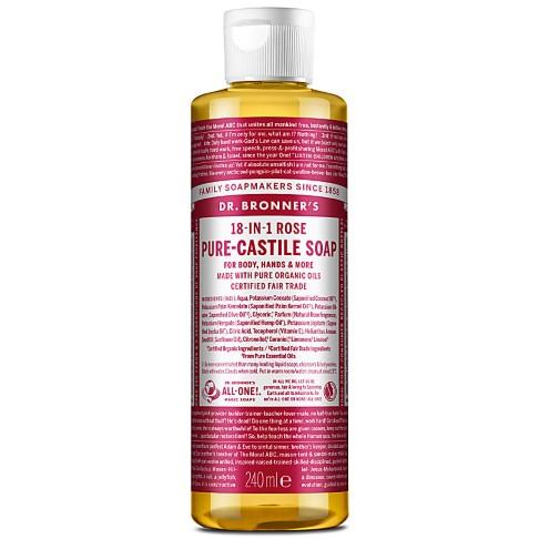 Dr. Bronner's Rose Castile Liquid Soap - 237ml