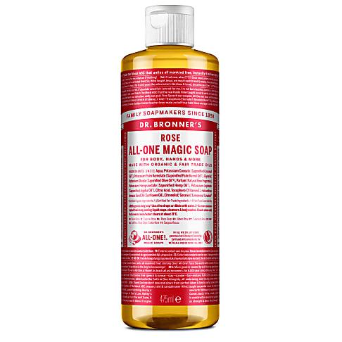 Dr. Bronner's Rose Castile Liquid Soap - 473ml