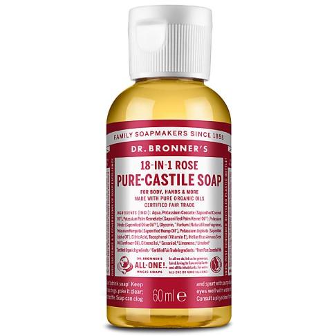 Dr. Bronner's Rose Castile Liquid Soap - 59ml