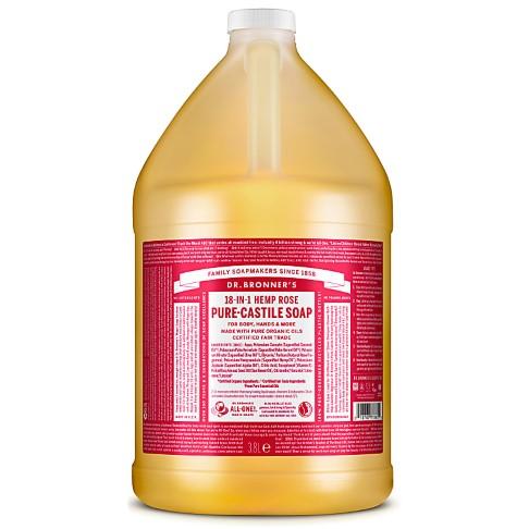 Dr. Bronner's Rose Castile Liquid Soap - 3.8L