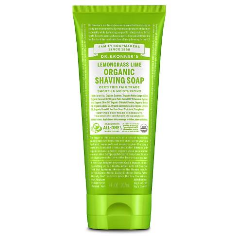 Dr. Bronner's Organic Lemongrass Lime Shaving Soap