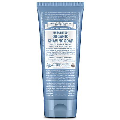 Dr. Bronner's Organic Unscented Shaving Soap