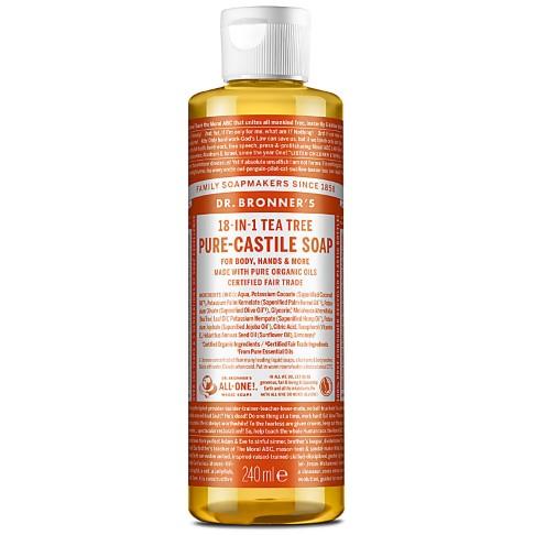 Dr. Bronner's Tea Tree Castile Liquid Soap - 237ml