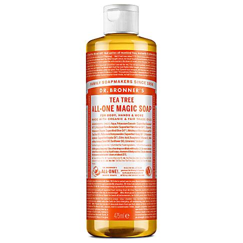Dr. Bronner's Tea Tree Castile Liquid Soap - 473ml