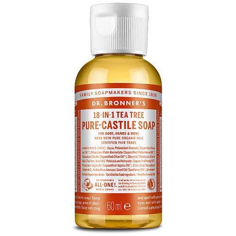 Dr. Bronner's Tea Tree Castile Liquid Soap - 60ml