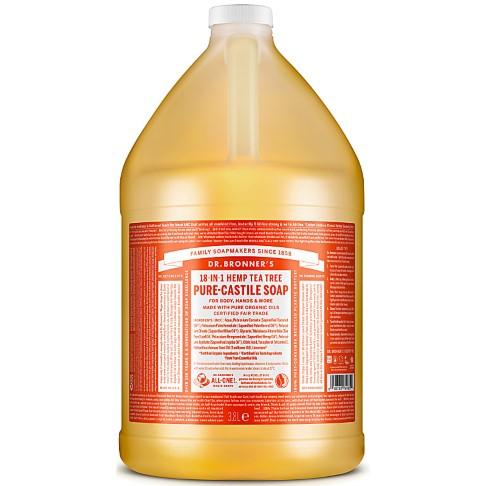 Dr. Bronner's Tea Tree Castile Liquid Soap - 3.8L
