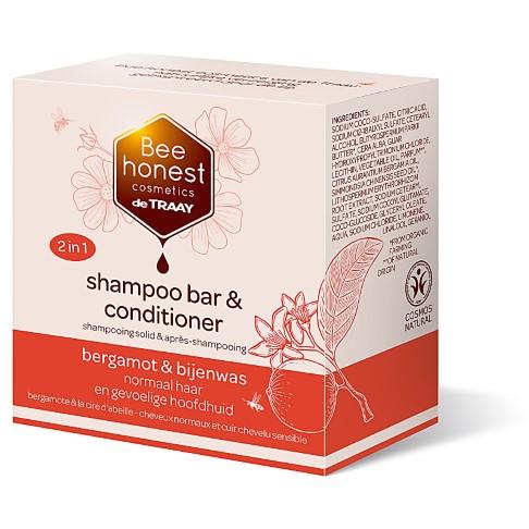 De Traay Bee Honest Shampoo & Conditioner Bar - Bergamot & Beeswax