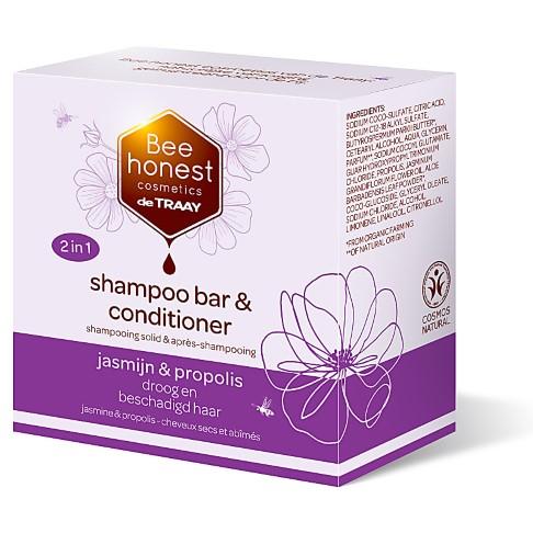 De Traay Bee Honest Shampoo & Conditioner Bar - Jasmin & Propolis