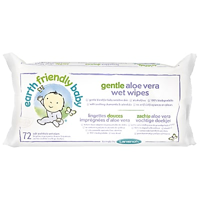 Earth Friendly Baby Gentle Aloe Vera Wipes
