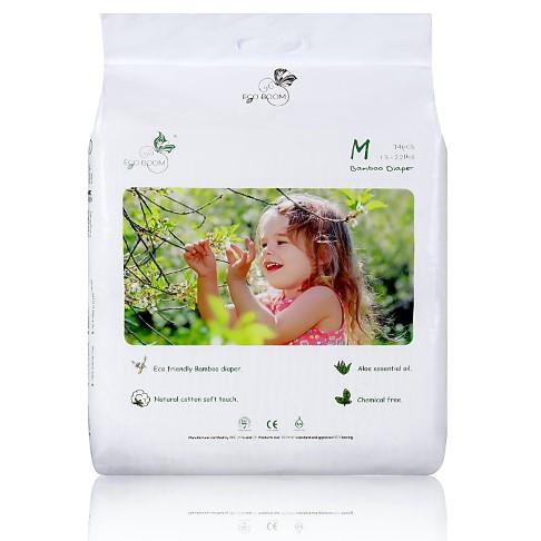 ECO BOOM Bamboo Nappies 74 pack 6-11kg (13-22Ib) Medium