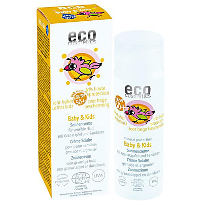 Eco Cosmetics Baby & Kids Sun Cream SPF 50+ very high mineral protection
