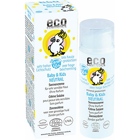 Eco Cosmetics Baby & Kids Sun Protection SPF 50+ NEUTRAL - perfume free