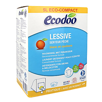 Ecodoo Peach Laundry Detergent - 5L Bag In Box