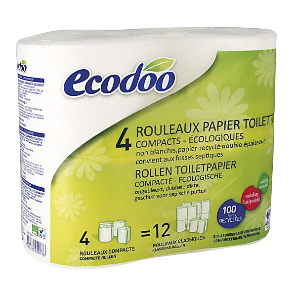 ecodoo compact toilet paper 4 rolls. Black Bedroom Furniture Sets. Home Design Ideas
