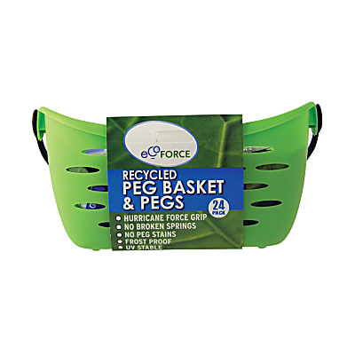 EcoForce Recycled Peg Basket and 24 Pegs