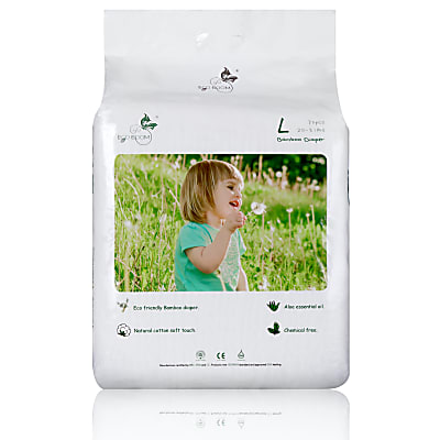 ECO BOOM Bamboo Nappies 70 pack 9-14kg (30-31Ib) Large