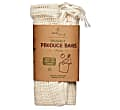 Eco Living Organic Produce Bags & Bread Bag - 3 Pack
