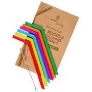 Eco Living 6 Silicone Smoothie Straws