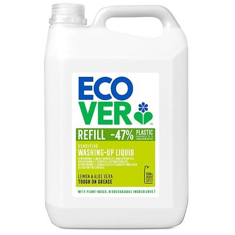 Ecover Washing Up Liquid with Lemon & Aloe Vera 5L