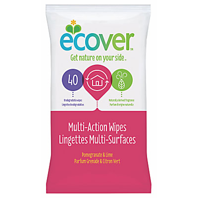 Ecover Multi-Action Wipes Pomegranate & Lime - 40 Wipes