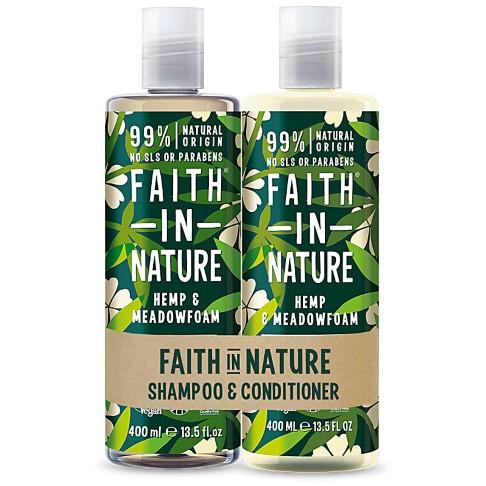 Faith in Nature Hemp & Meadowfoam Banded Shampoo & Conditioner