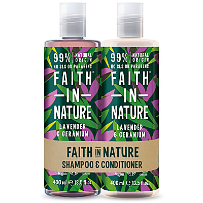 Faith in Nature Lavender & Geranium Banded Shampoo & Conditioner