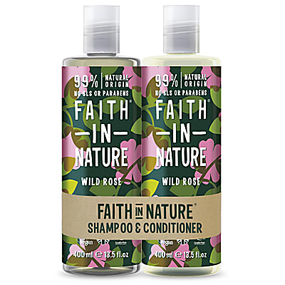 Faith in Nature Wild Rose Banded Shampoo & Conditioner