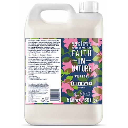 Faith in Nature Wild Rose Body Wash - 5L