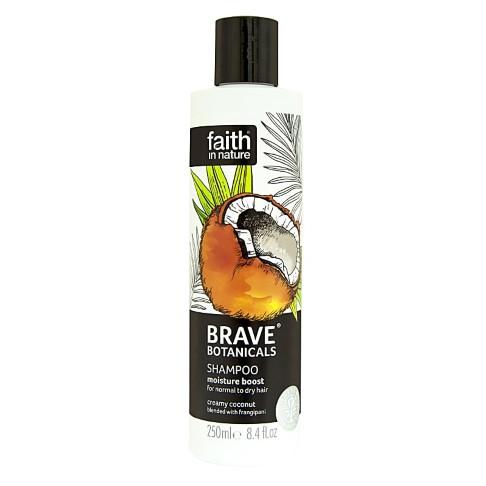 Faith in Nature Brave Botanicals Coconut & Frangipani Moisture Boost Shampoo