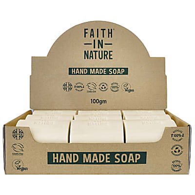 Faith in Nature Box of 18 Unwrapped Natural Hand Made Coconut Soaps