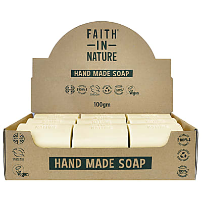 Faith in Nature Box of 18 Unwrapped Natural Hand Made Grapefruit Soaps