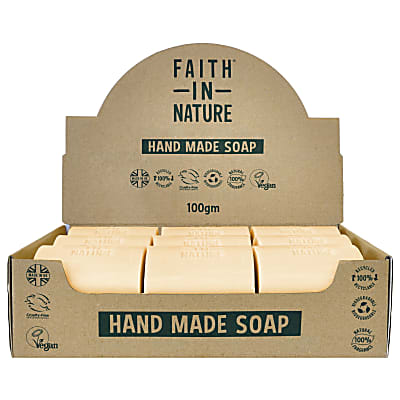 Faith in Nature Box of 18 Unwrapped Natural Hand Made Orange Soaps