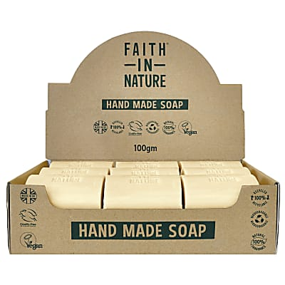 Faith in Nature Box of 18 Unwrapped Natural Hand Made Fragrance Free Soaps