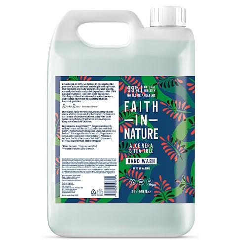 Faith in Nature Aloe Vera & Tea Tree Hand Wash - 5L