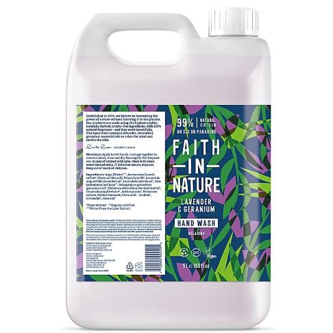 Faith in Nature Lavender & Geranium Handwash - 5L