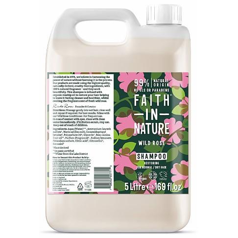Faith in Nature Wild Rose Shampoo - 5L