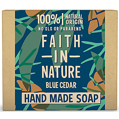 Faith in Nature Blue Cedar Soap Bar