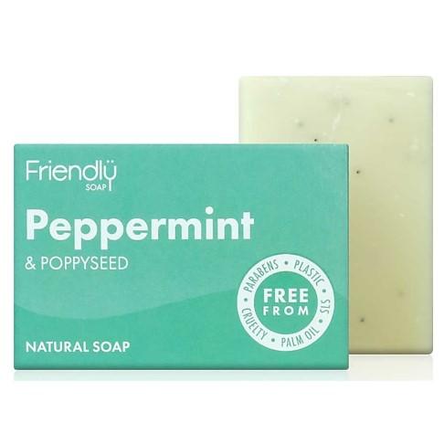 Friendly Soap Bath Soap - Peppermint & Poppy seeds