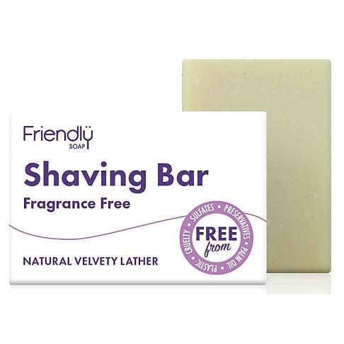 Friendly Soap Shaving Bar - Fragrance Free
