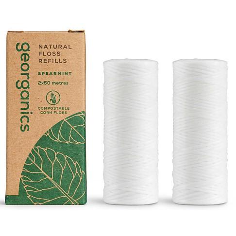 Georganics Natural Floss Refill - Spearmint