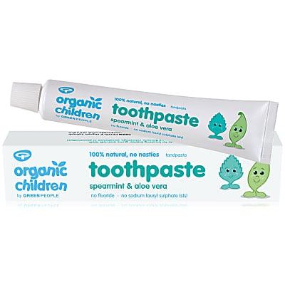 Green People Organic Children's Spearmint & Aloe Vera Toothpaste - 50ml