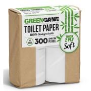 Greencane Paper Toilet Roll: 4 Pack of Sugarcane Toilet Paper