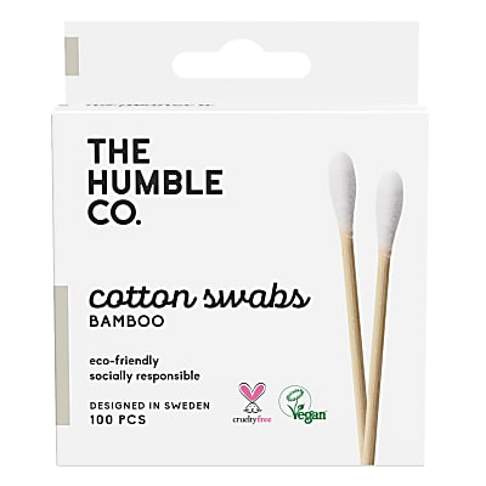 Humble Natural Cotton Swabs - White (100 pcs)