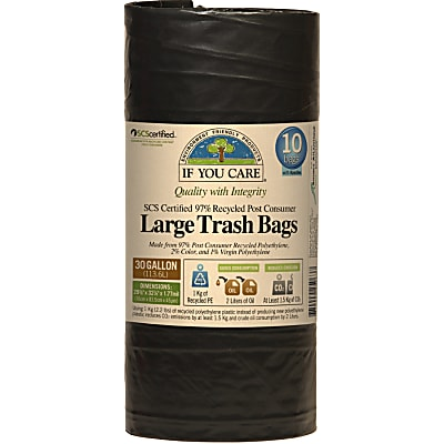If You Care Large Trash Bags - 136L