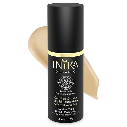 INIKA Certified Organic Liquid Foundation with Hyaluronic Acid - Honey