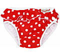 ImseVimse Swim Pants - Red Dots with a frill
