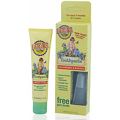 Jason Earth's Best Strawberry & Banana Toddler Toothpaste